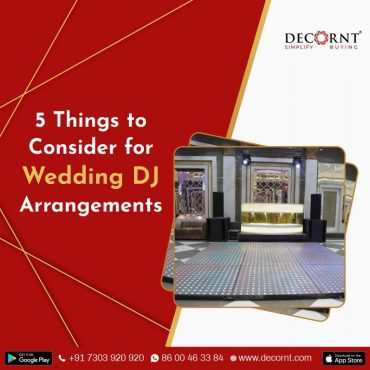 5 things to consider for Dj arrangements