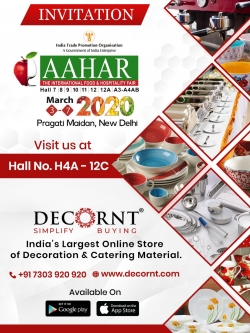 Decornt Online Service Pvt. Ltd Cordially invites you in AAHAR exhibition,at Pragati Maidan,New Delhi.