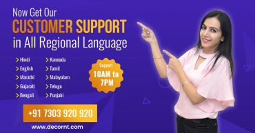Now Get Our Customer Support in All Regional Language.
