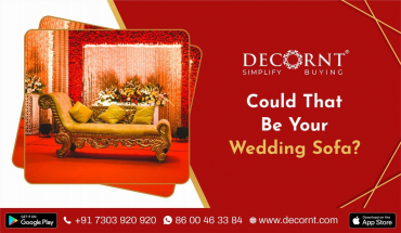 Types of Wedding sofa for bride and groom