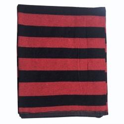 (12 Ft X 15 Ft) Regular Cotton Floor Mat / Dari / Dhuriee / Satranji / 6.5 KG Quality / Red & Black Color.