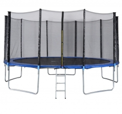 Jump n Dunk - 16 feet Round Trampoline with Premium Safety Enclosure.