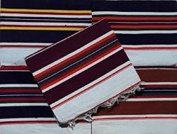 7 FT x 5 FT - Multi Color - Regular - Cotton Floor Mat - Dari - Dhurrie - Galicha - Rugs - Satranji - Weight - 700 GM