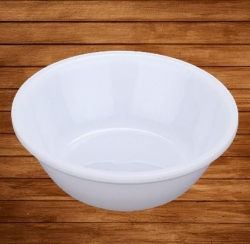 5 Inch - Soup Bowls - Curry Bowls - Dessert Bowls - Made Of Food Grade Virgin Plastic - White Color