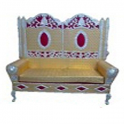 Yellow Color - Regular - Couches - Sofa - Wedding Sofa - Maharaja Sofa - Wedding Couches - Made of Metal