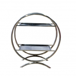 2.5 Feet - Two Tier Salad Stand - Spoon Stand - Made of Stainless Steel.