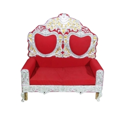 Red Color - Regular - Couches - Sofa - Wedding Sofa - Wedding Couches - Made Of Wooden & Metal