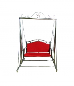 Swing - Jhula - Hammock - Made of Stainless Steel - Red Color (Size - 6 FT  X 4 FT) Weight - 28 Kg