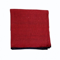 9 FT X 15 FT - Regular Quality - Dari - Dhurrie - Rugs - Satranji - Floor Mat - Red color - Weight  - 3.5 Kg
