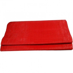 10 FT X 50 FT - Virgin Chhatai Plastic Mat - Red Color