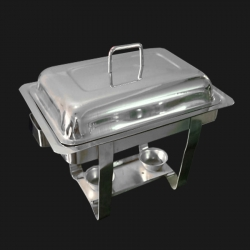 Chafing Dish - Square Garam Set - Hot Pot - Stainless Steel with Mirror Finish.