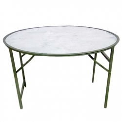 Round Table -(Size 5 X 5) Catering Center Table (24 Kgs) - Made of Iron & Stainless Steel