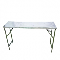 1.5 FT X 6 FT - Rectangle Table - Top Galvanized Sheet - Made of Iron - Weight - 15 Kg