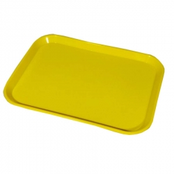16 Inch - Serving Platter - Rectangular shape Large Tray - Made of Premium Plastic - Yellow Color