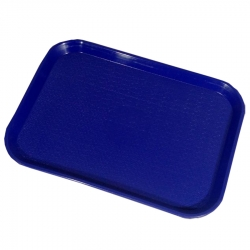 16 Inch - Large Tray - Serving Platter Made of Premium Quality Plastic - Blue Color