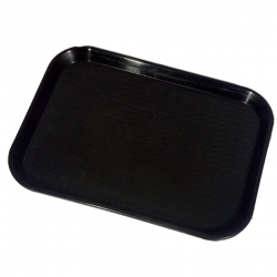 16 Inch - Large Trays - Serving Platter Made of Premium Quality Plastic - Black Color