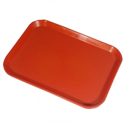 16 Inch - Large Trays - Serving Platter Made of Premium Quality Plastic - Red Color