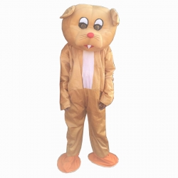 Cartoon Costume - Adult Mascot Mascot - Party Mascot - Made of High Quality Plush Material - Pack Of 1 - Golden color