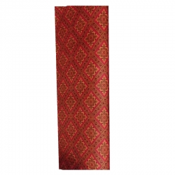 5 Feet X 145 Feet - Non Woven-Printed Carpet- Galicha -  Made Of Premium Quality Cotton - Red Color