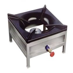 Single Burner Gas Stove Square 10*10 Stainless Steel .
