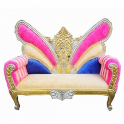 Multi Color - Udaipur - Rajasthani - Heavy - Couches - Sofa - Wedding Sofa - Wedding Couches - Made Of Wooden & Metal