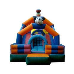 Inflatable HQ Commercial Grade Bouncy with Blower And Slide- Kids Jump n Bounce - 12 x 12 x 17 feet - Made of 100% PVC