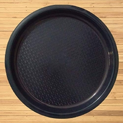 Serving Tray - Large Tray - Made Of Premium Plastic - Made of Pure Virgin Plastic - Black  Color