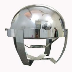5 Liter - Chafing Dish / Garam Set  / Hot Pot - Round Shape - Made of Stainless Steel