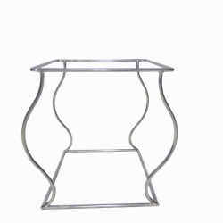 13 Inch - Salad Stand - Square Shape Single-Rack Stand - Made of Stainless Steel