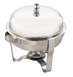 5 LTR - Chafing Dish - Garam Set - Hot Pot - Round Shape - Made of Stainless Steel