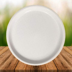 16 Inches Large Tray - Made Of Premium Plastic - White Color
