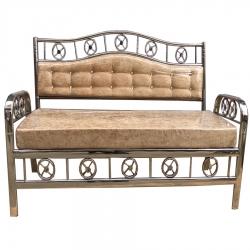 Cream Color - Royal Steel Sofa - 3 Seater Sofa - VIP Sofa - Wedding Steel Sofa - Made of Stainless Steel