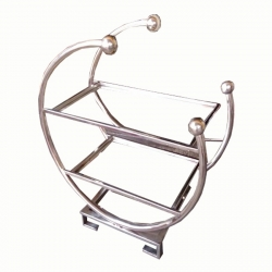 2.3 Ft - Salad Stand - Two Tier Round Shaped Rack - Made of Stainless Steel.