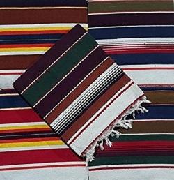 6 FT x 4 FT - Multi color - Regular - Cotton Floor Mat - Dari - Dhurrie - Galicha - Rugs - Satranji  - Weight 2 KG