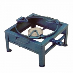 One Burner Canteen Gas Stove Deluxe Bottom - Iron Bhatti 12 X 12 Square.