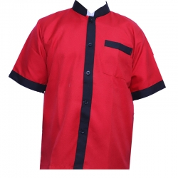 Kitchen Uniform / Chef Coat / Chef Vest ; Unisex Chef Uniform / Kitchen apparel; ; Half Sleeve;Red Color
