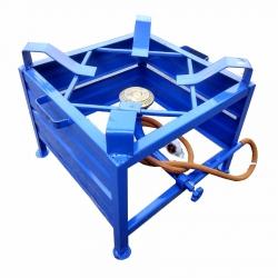 Heavy 16x16 Gas Stove - Gas Bhatti - Canteen Medium Burner With Regulator And Pipe - Iron Body.