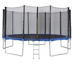 10 FT - Round Trampoline - Jump n Dunk with Premium Safety Enclosure.