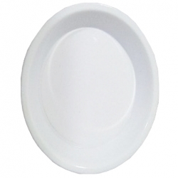 5  inch Made Of Food-Grade Virgin Plastic Material; Round Shape;  White Color