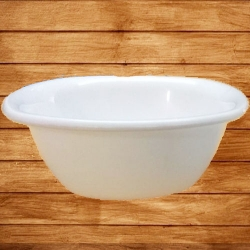 3.5 Inch - Soup - Curry Bowls Made Of Food-Grade Virgin Plastic - White Color