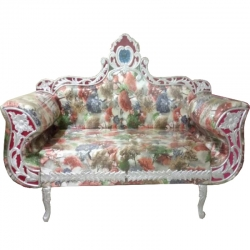 Multi Color - Regular - Couches - Sofa - Wedding Sofa - Maharaja Sofa - Wedding Couches - Made Of Wooden & Metal