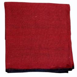 9 FT X 12 FT - Regular Quality - Dari - Dhurrie - Rugs - Satranji - Floor Mat - Red color - Weight  - 3.25 Kg