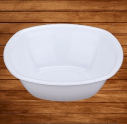 3.5 Inch - Soup Bowl - Curry Bowl - Made Of Food Grade Virgin Plastic - White Color