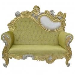Pitch Color - Udaipur - Rajasthani - Jaipuri - Heavy - Premium - Couches - Sofa - Wedding Sofa - Maharaja Sofa - Wedding Couches - Made of Wooden & Metal