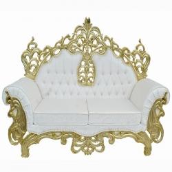 Maharaja style Udaipur Sofa - Wedding Sofa - Made of wood and metal - White Color