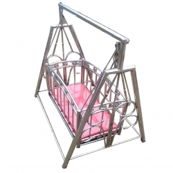 Red Color - Steel Palna - Steel Jhula - Palna - Jhula - Baby Swing - Baby Cradle - Made of Stainless Steel