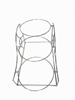 Salad Stand - Fancy Style Salad Stand - Made Of Stainless Steel With 3-Tier Ring Shaped Racks.