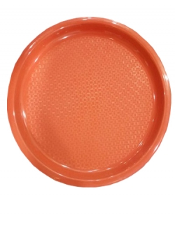 Serving Platter - 16 Inches Large Tray - Made Of Premium Plastic - Red Color