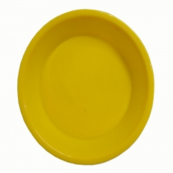 5 Inch Plates - Made Of Food-Grade Regular Plastic Material - Round Shape - Yellow color