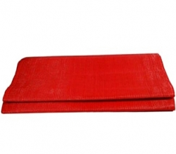 10 FT X 15 FT - Virgin Heavy Chhatai Plastic Mat - Red Color